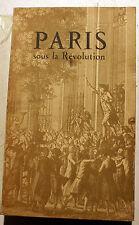 REVOLUTION FRANCAISE/PARIS SOUS LA REVOLUTION/ALMANACH D'ESTIENNE/1947/RARE