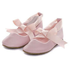 Ballerina Shoes Ballet Flower Girl Ribbon Tie Baptism Communion Flats Dance Prom