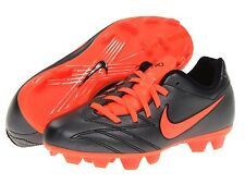Nike Youth UK 4.5 T90 Shoot IV FG Firm Ground Black/Crimson Red Football Boots