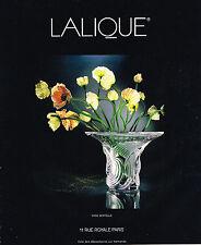 PUBLICITE  1994   CRISTAL LALIQUE  vase  SERTELLA