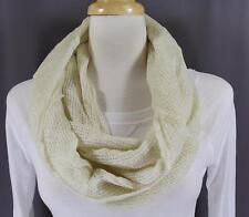 Cream sparkly scarf circle infinity endless loop long gauze lightweight