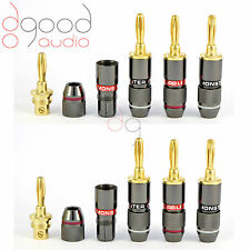 8 x Monster Cables Gold Plated 4 mm Banana Plugs Speakers Terminal Connector
