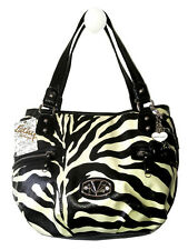 NWT Kathy Van Zeeland -Zoo Animal Ball Shopper - H72205 - White/Black Zebra -C35