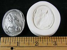 Horse Head Lasso Framed Oval Polymer Clay Mold (#MD1414)