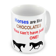 Horse Cup- Horses Are Like Chocolates You Can't Have Just One! Novelty Gift Mug