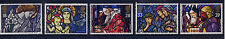 GB 1992 CHRISTMAS STAINED GLASS WINDOWS SET MNH