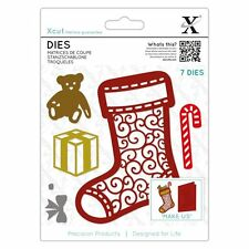 Xcut (Docrafts) Paper Card Craft Dies (7 pieces) - Filigree Chritsmas Stocking