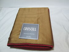 NEW Croscill Euro European Pillow Sham MOSAIC LEAVES 26x26 ~ Gold/ Red NIP