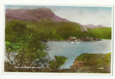 Scotland - Loch Katrine and Ben A'an - Vintage Real Photo Postcard