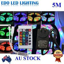 Waterproof 300 LEDS RGB 5M 3528 SMD LED Strip Light 12V + IR Controller+Driver