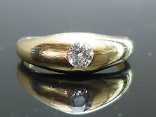 Stunning Victorian 18ct gold 0.25ct Old cut Rub over set soliatire diamond ring
