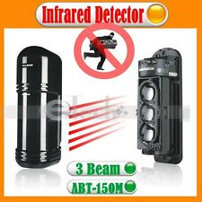 2 Beams Photoelectric Infrared Detector ABT-30m Alarm Home Security Sysetem NEW