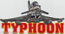 RAF Royal Air Force Eurofighter Typhoon Jet Cut-Out  Embroidered Badge Patch