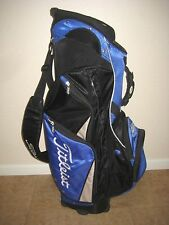 MENS TITLEIST GOLF CART BAG, BLACK/BLUE, 8 ZIPPERED POCKETS, 7 LBS
