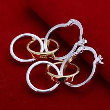 Damen Ohrring Creolen Ringe /Gold Ohrstecker pl. mit Sterlingsilber DO141 T::A