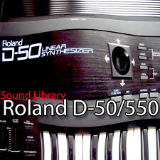 ROLAND D-50/550 Huge Sound Library & Editors on CD