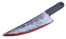 HALLOWEEN PARTY KNIFE WITH BLOOD SPLATTER PROP FANCY DRESS ACCESSORY