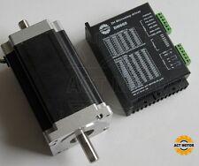 dual shaft  3.5A nema34 stepper motor 151mm,1600OZ /3.5A  with driver DM860 CNC