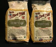Bob's Red Mill Organic Coconut Flour 16 oz Bag Lot Of 2 High Fiber Gluten Free