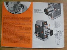 Instructions cine movie camera BELL & HOWELL Autoset III 8mm