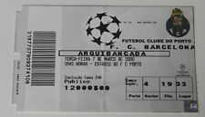 Ticket for collectors CL FC Porto - FC Barcelona 2000 Portugal Spain