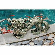 EU9306 Asian Dragon of the Great Wall Statue -Symbol of Abundance and Prosperity