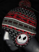 The Nightmare Before Christmas Jack Skellington Laplander Beanie Hat Cap Disney
