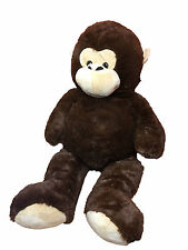 EXTRA LARGE 100 CM SOFT HUGE DARK BROWN STUFFED GIANT CUDDLY TEDDY BEAR MONKEY
