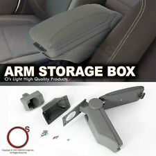 Chevy Astro 99-05 Center Console Grey Leatherette Armrest Storage Box