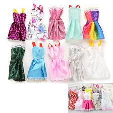 10 X Beautiful Handmade Party Clothes Fashion Dress for Barbie Doll Mixed Funny