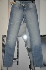 "DESTROYED SKINNY JEANS ""FLY GIRL ""TENDER BLUE DECOR CRYSTALS  6 SIZE"