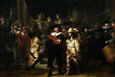 FINE ART  FRIDGE MAGNET - REMBRANDT - THE NIGHT WATCH