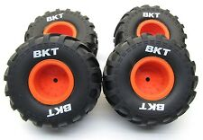 Axial SMT10 Max-D TIRES (Set of 4 Tyres) Max-D Orange Rims Wheels AX90057