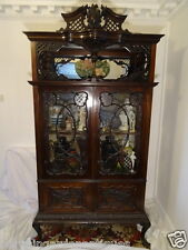 Large Carved Chippendale Display Cabinet/Cupboard Mahogany Magnificent