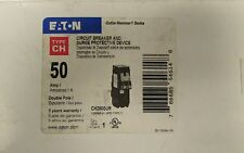 EATON CUTLER HAMMER CH250SUR 2P 50A Type CH Breaker and Surge Protective Device