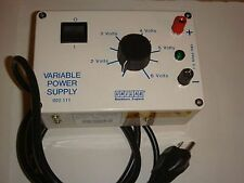 UNILAB VARIABLE POWER SUPPLY 1.5v -6v 1.5 amps max 110v School Labs College