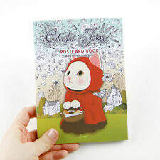 Tear Book of 36 DIY Coloring Postcards - Colorful JETOY Coloring Postcards Book