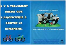 Publicité Advertising 1999 (2 pages) Renault Kangoo Equipée Decathlon