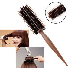Curly Hair Comb Radial Round Brush Wood Handle Bristle Anti-static Hairdressing