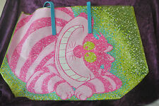 Disney Parks Alice In Wonderland Cheshire Cat Plastic Beach Bag, Tote New