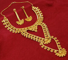 Indian Traditional 18K Goldplated Wedding Party Necklace Set Designer Jewelry
