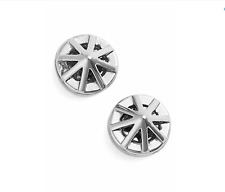 New Rebecca Minkoff Silver Tone Petite Cage Stud Earrings $28