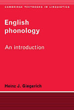 English Phonology: An Introduction by Heinz J. Giegerich (Paperback, 1992)