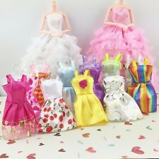 5Pcs Sorts Handmade Party Clothes Fashion Dress For Barbie Doll Best Gift Toy