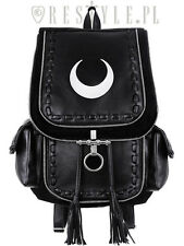 Restyle Crescent Moon White Punk Goth Emo Rock Scene Alternative Womens Backpack
