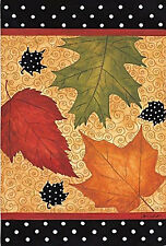 "Falling Leaves Fall House Flag Seasonal Autumn Yard Banner Evergreen 29"" x 43"""