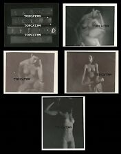 MADONNA Nude Model 1979 CONTACT FILM SHEET & 4 DEVELOPED PHOTOS ~ INSANELY RARE!