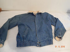 Mens Winter Fall coat LEVI STRAUSS & CO. Blue Denim Nice Lined Size S Small