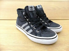 Adidas Originals Nizza Hi Top Black Trainers Sneakers Casual Shoes  Size 4  36.5