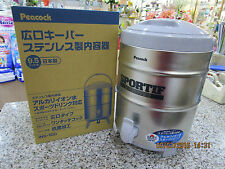 Peacock S/Steel Vacuum Pot 9.5L thermos Sliver Made in Japan 24hours hot/cold